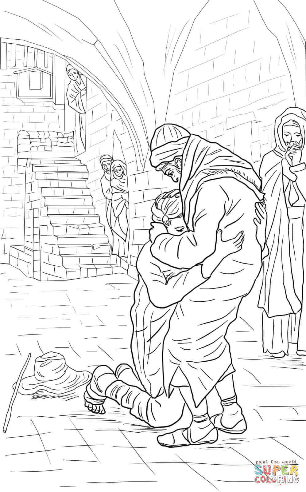 997x1600 The Return Of The Prodigal Son Coloring Page Free Printable