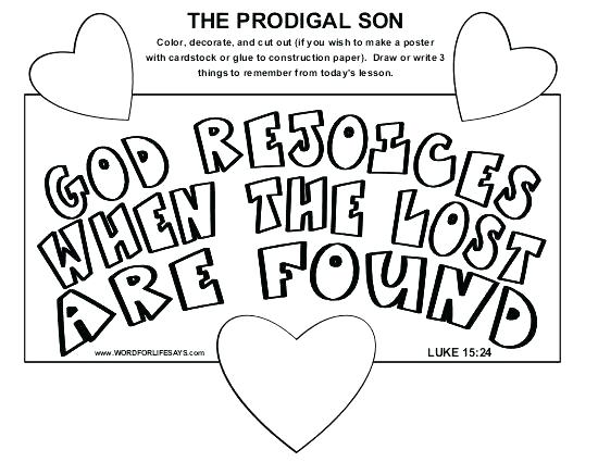 550x425 Prodigal Son Coloring Sheets Convobox.co