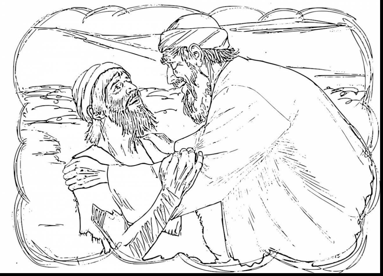 1320x954 Stunning Parable Of The Prodigal Son Coloring Pages With Prodigal