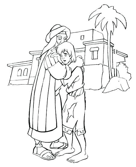 452x555 Fresh Prodigal Son Coloring Page Fee