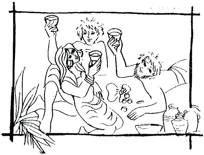 653x497 Great Prodigal Son Coloring Page Fee The Lost Parable Puzzles