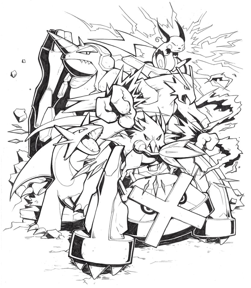 834x958 Comm Pokemon Team By H0lyhandgrenade