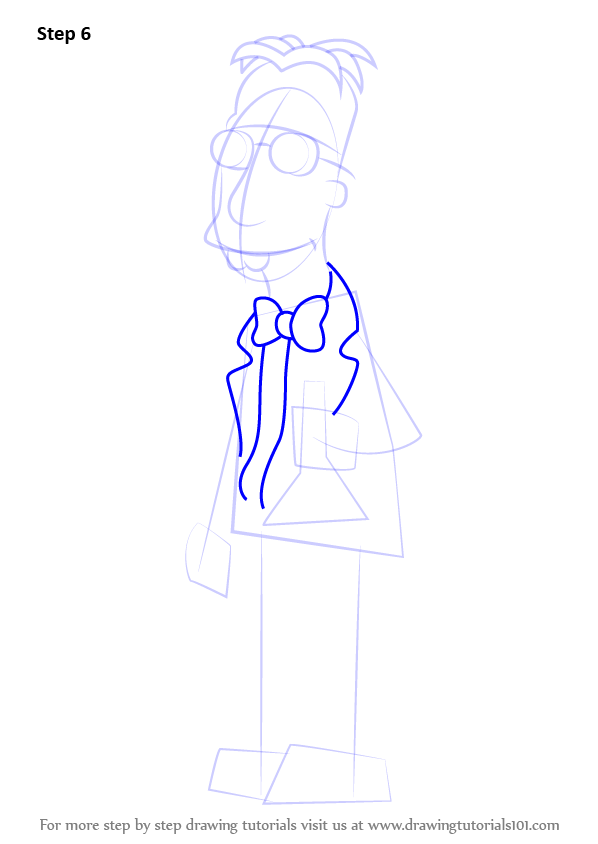 598x844 Learn How To Draw Professor Frink From The Simpsons (The Simpsons