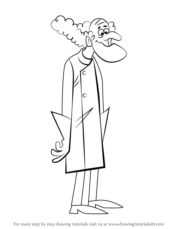 612x792 Learn How To Draw Professor Pat Pending From Wacky Races (Wacky