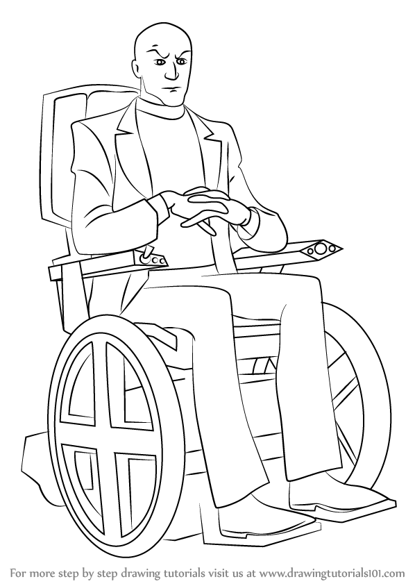 598x844 Learn How To Draw Professor X From X Men (X Men) Step By Step