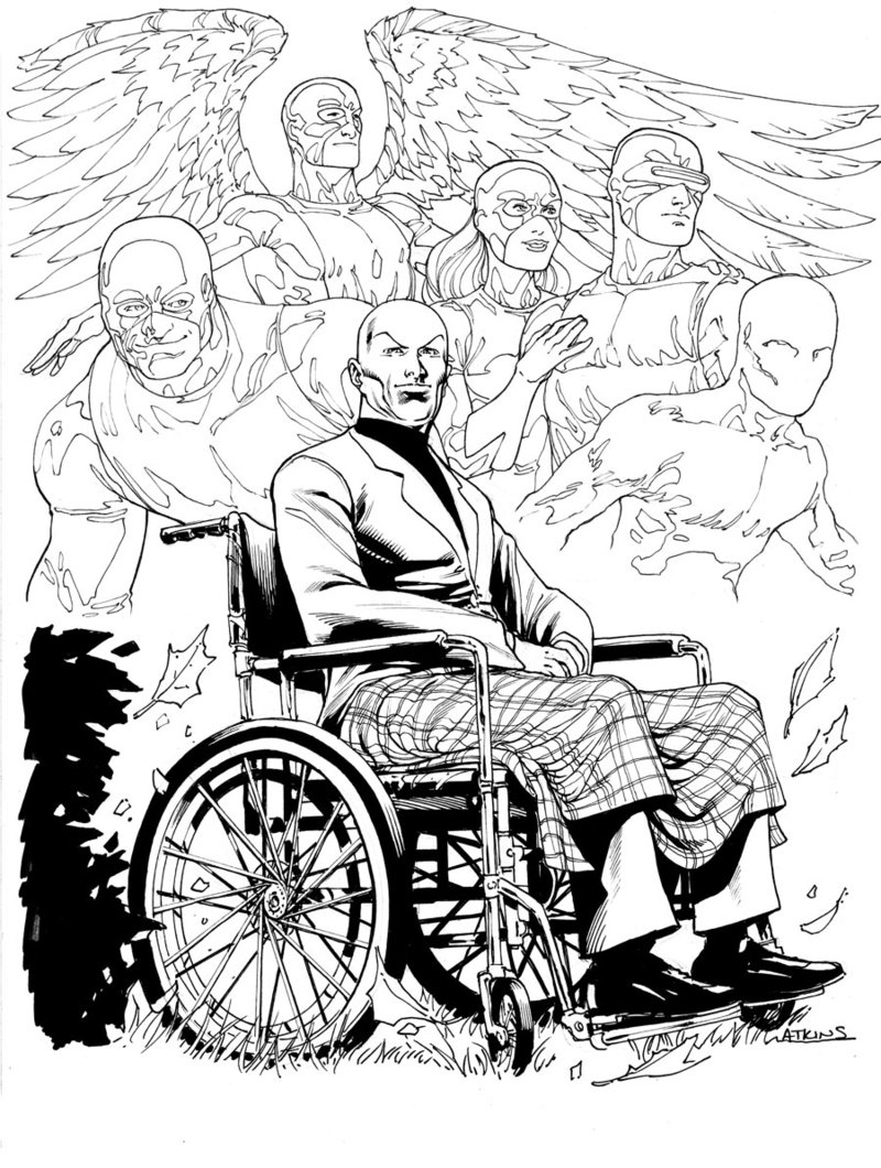 800x1060 X Men Month Prof X Sotd By Robert Atkins Comic Book