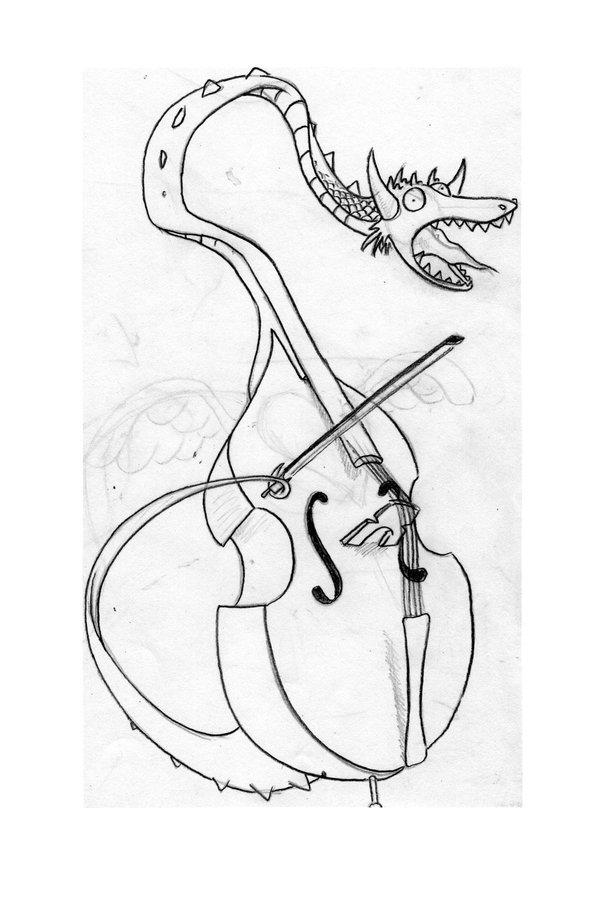 600x900 Dragon Cello By Professor Celery