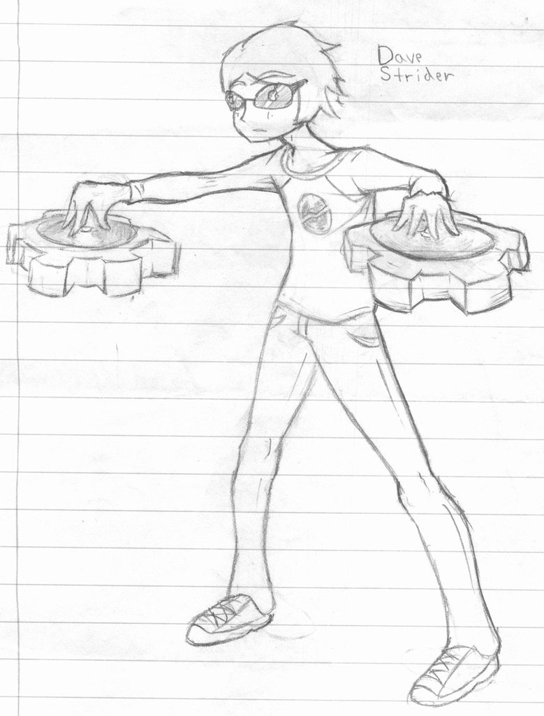779x1025 Drawing Of Dave Strider By Professor Awkward