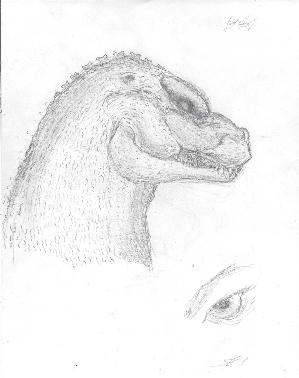 1024x1296 Godzilla 1989 Side Profile By Mrfredbear1983