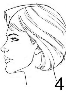 260x364 Pictures Line Drawing Female Face Profile,