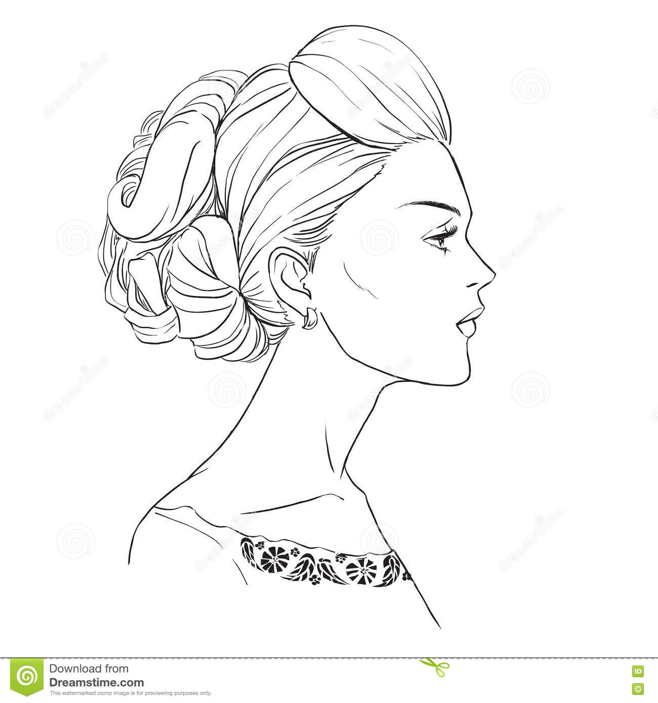 1300x1390 Drawing Of A Profile Of A Girl How To Draw A Face From The Side