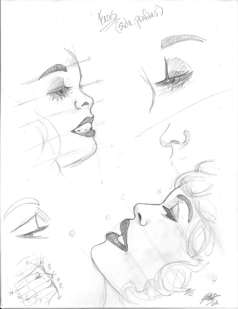 785x1017 Faces Side Profile By Mrecartoonist