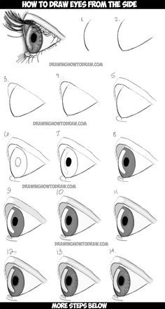 236x440 How To Draw Realistic Eyes From The Side Profile View