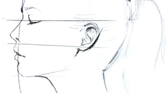 570x320 Drawing A Profile Face Best Ideas About Profile Drawing