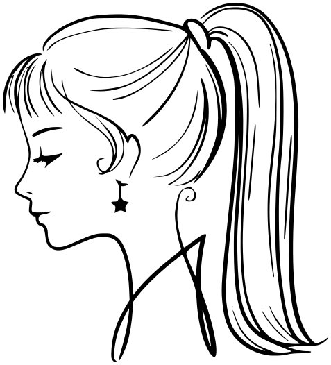 477x526 Girl Face Profile
