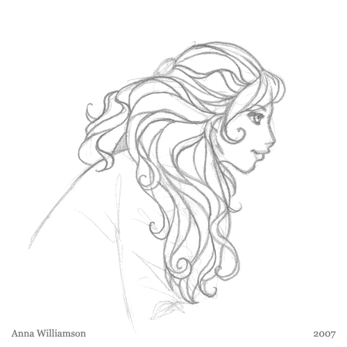 500x500 Pencil Sketch Hair (Again!) Anna Williamson
