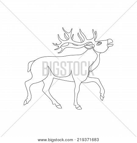 450x470 Big Deer Vector Illustration Line Vector Amp Photo Bigstock