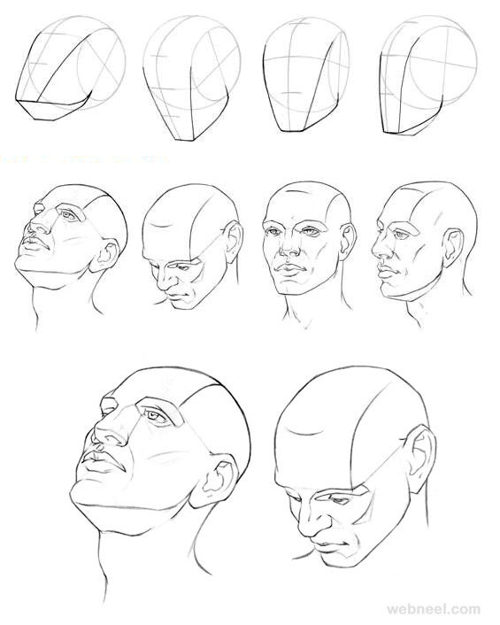 565x706 Drawing How To Draw Face Looking Ups Wells How To Draw