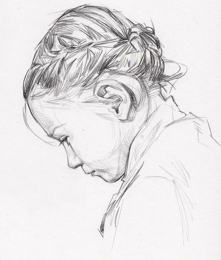 Profile Portrait Drawing