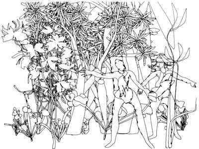 400x300 Adam And Eve, Harold Cohen (Drawing Generated By The Computer