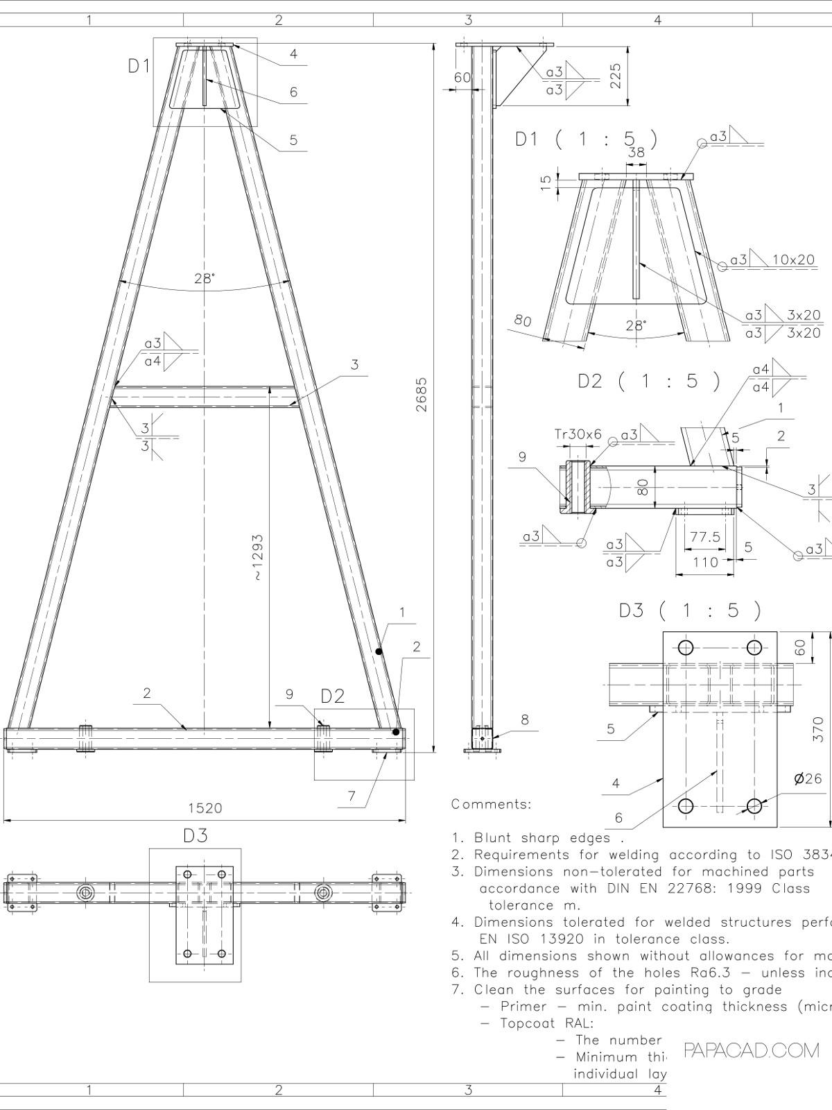 1200x1600 Gantry Crane Plans