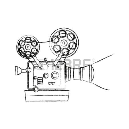 450x450 High Detailed Vintage Film Projector Cinema Icon Vector