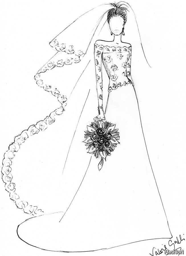 653x900 Simple Wedding Dress Design Drawings Easy Prom Dresses Colouring