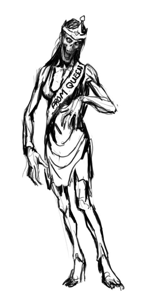 536x930 Sketch A Mathon Zombie Prom Queen