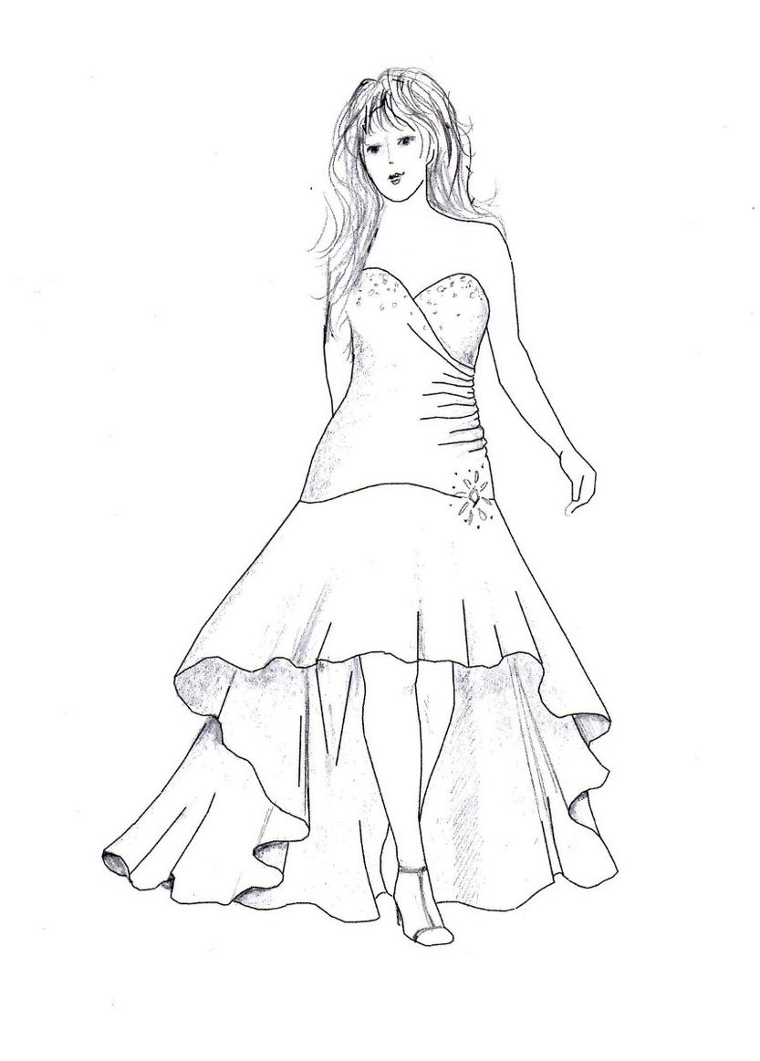833x1163 Sketches Of High Low Prom Dresses Cookie Inspirationdecor