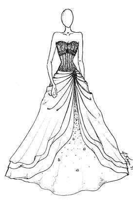 273x428 Drawing Of Prom Dresses Drawing Formal Dresses