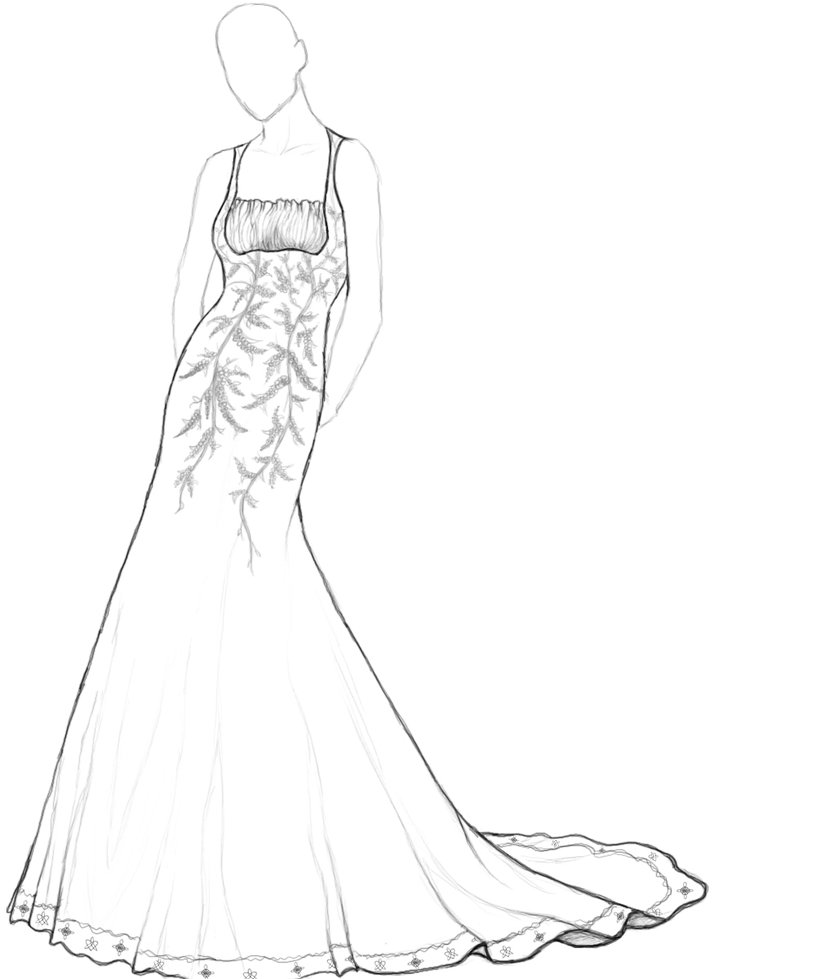 Prom Dress Drawing at GetDrawings.com   Free for personal use Prom ...