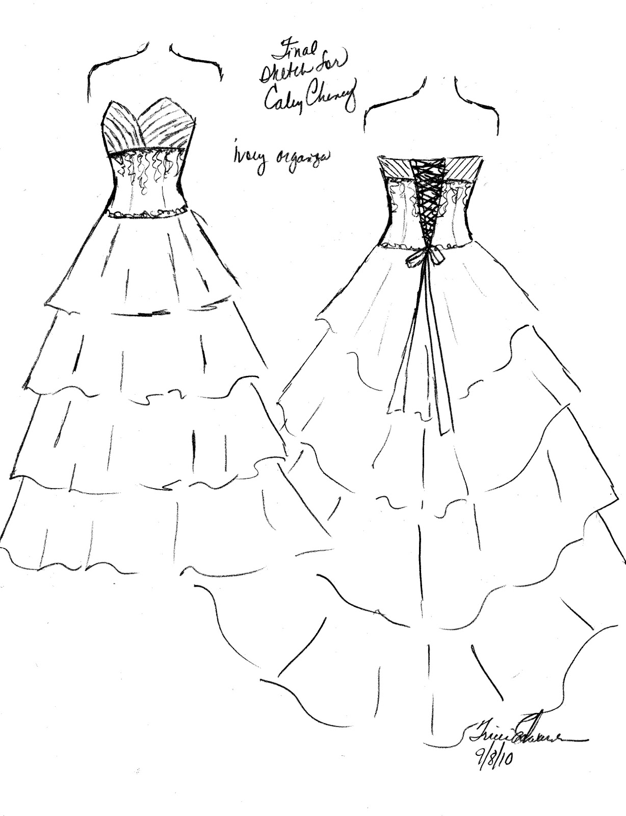 Prom Dress Drawing At Getdrawings