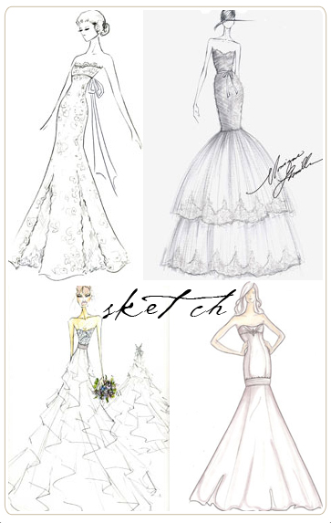 363x573 Wedding Dress Sketches ) Fashion Wedding Dress