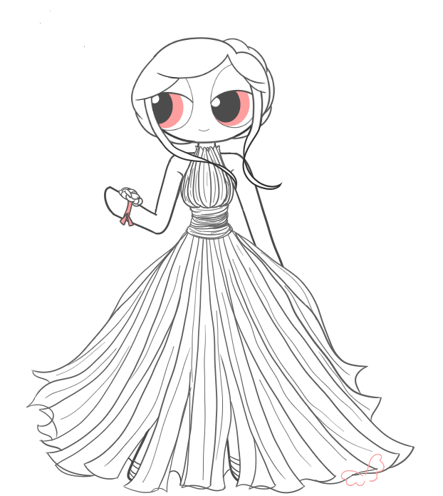 622x695 Blossom's Prom Dress (More Than Human) By Borntospreadmywings
