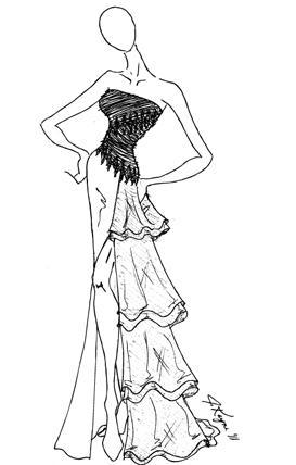 273x428 Johnathan Kayne Pink Organza Ruffle Mermaid Prom Dress 227 French