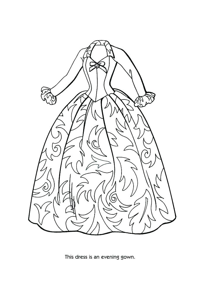 736x981 Prom Dresses Coloring Pages Of Unique Beautiful Dress Page Best