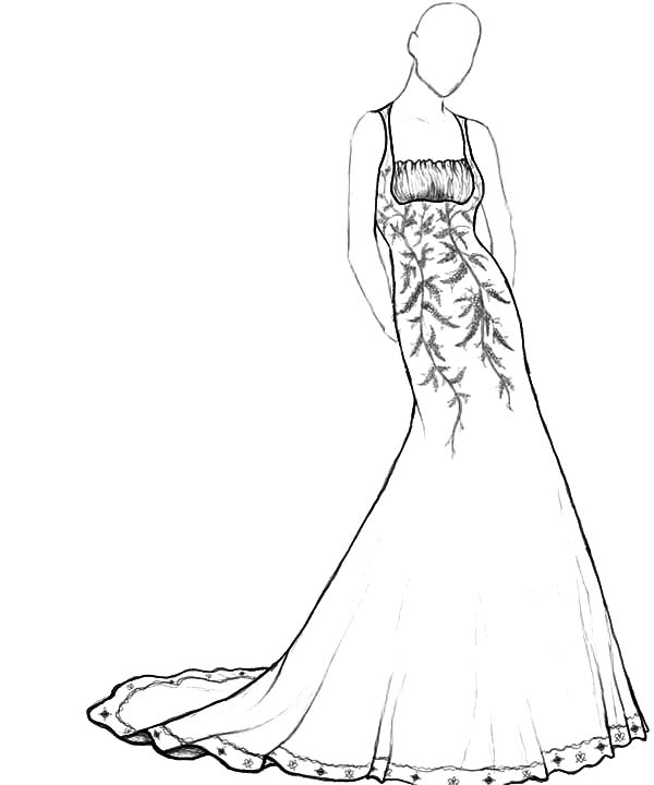 coloring pages of fancy dresses | Prom Dresses Drawing at GetDrawings.com | Free for ...