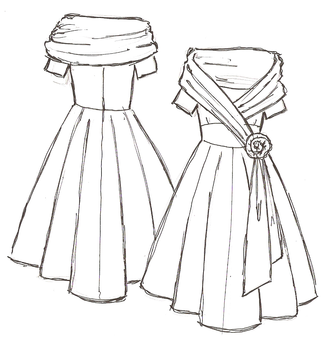 Prom Dresses Drawing at GetDrawings.com | Free for personal use Prom ...