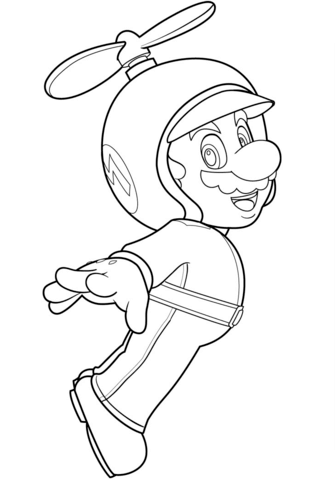 335x480 Propeller Mario Coloring Page Free Printable Coloring Pages