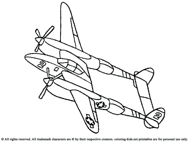 736x552 Airplane Coloring Book Plus Airplane With Two Propeller Blades 67