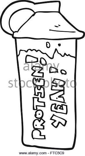 293x540 Freehand Drawn Cartoon Protein Shake Stock Photos Amp Freehand Drawn