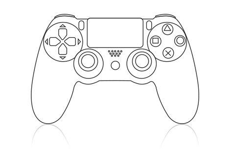 Ps4 Controller Drawing