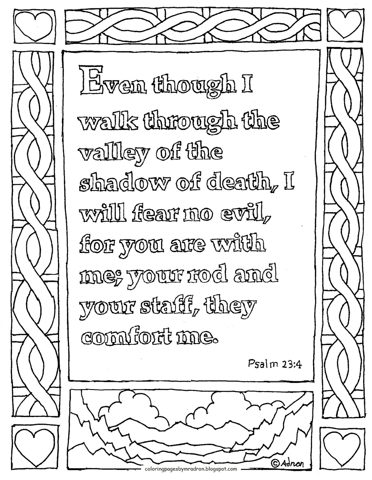 Psalm 23 Drawing at GetDrawings | Free download