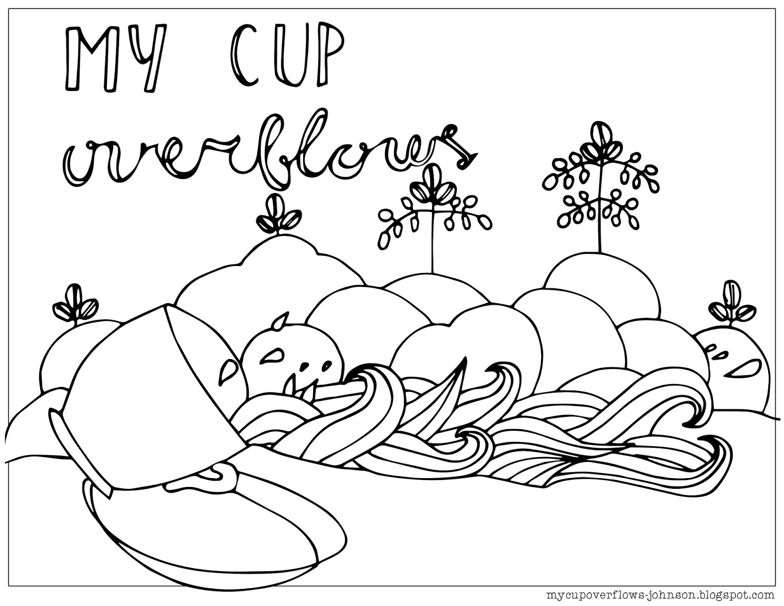 1600x1237 My Cup Overflows My Cup Overflows Coloring Page