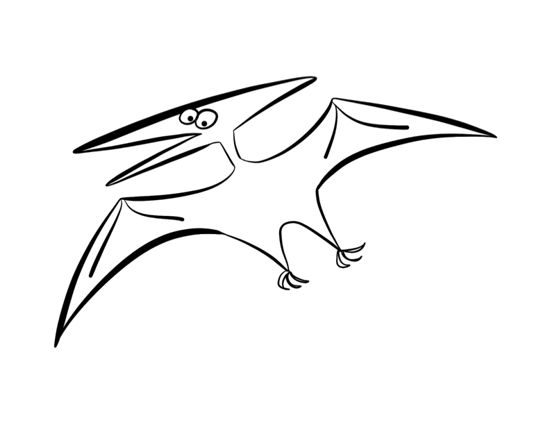 Pterodactyl Drawing at GetDrawings | Free download