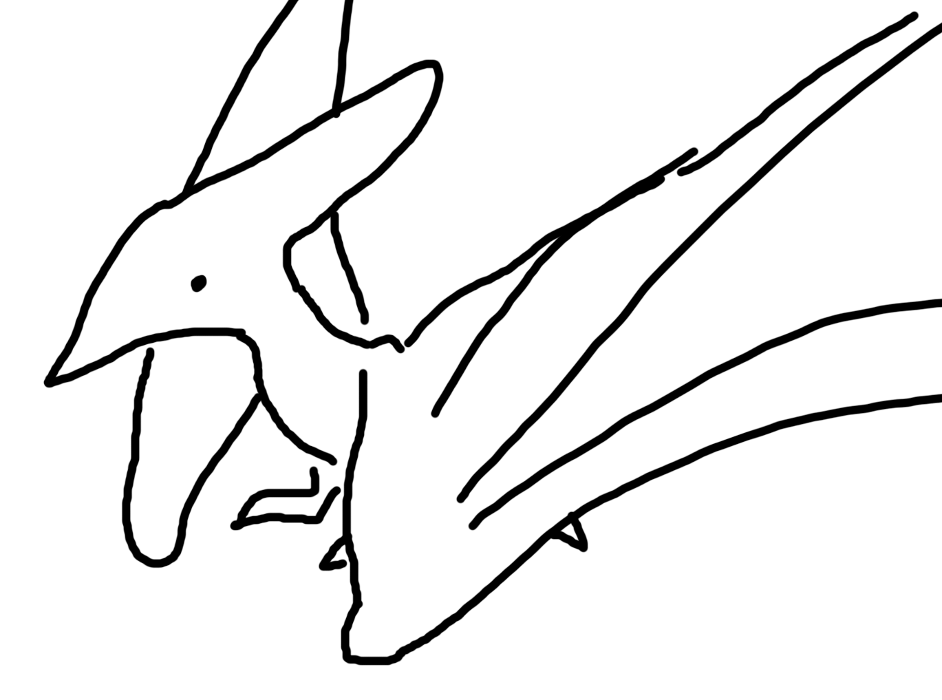 Pterodactyl Drawing at GetDrawings.com | Free for personal use ...