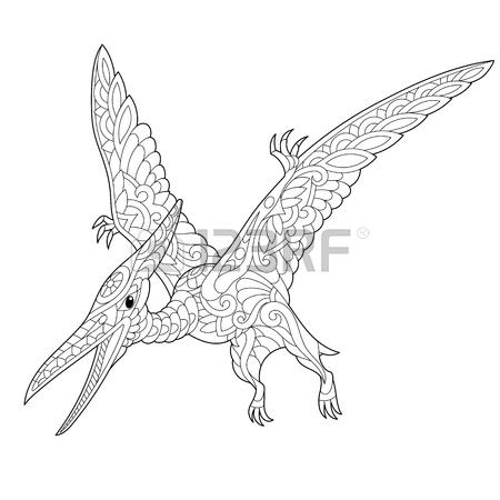 450x450 Stylized Pterodactyl Dinosaur, Pterosaur Of The Late Jurassic
