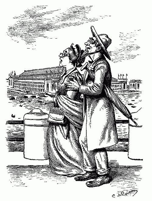 500x662 Public Domain Images Old Couple Look To The Sky Bumpkins Pen Ink