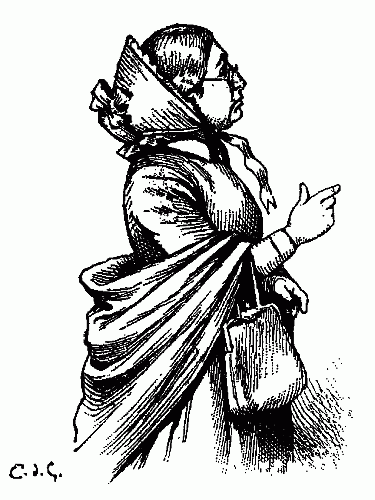 375x500 Public Domain Images Woman In Bonnet With Purse Walking Shopping