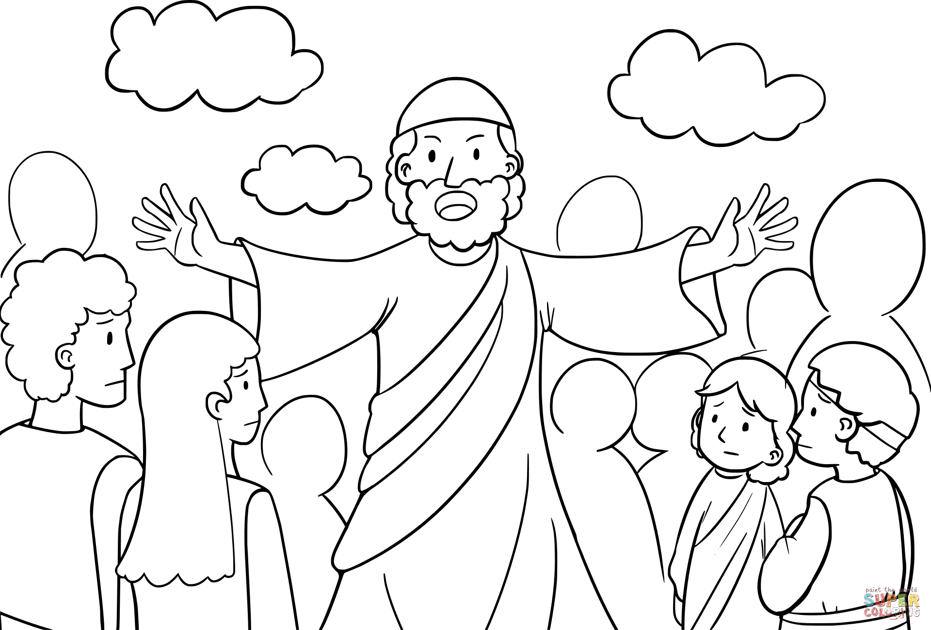 1920x1299 Moses Speaking To The Israelites Coloring Page Free Printable